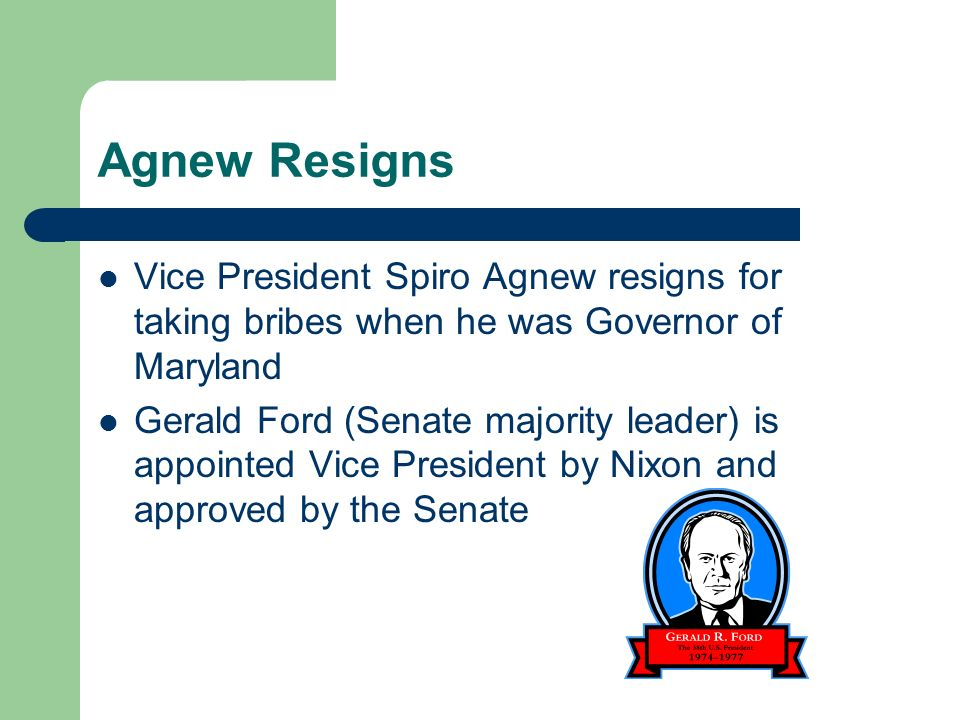 Image result for vice president spiro agnew resigns