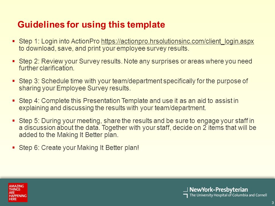Employee Survey Results Presentation Template  Introduction