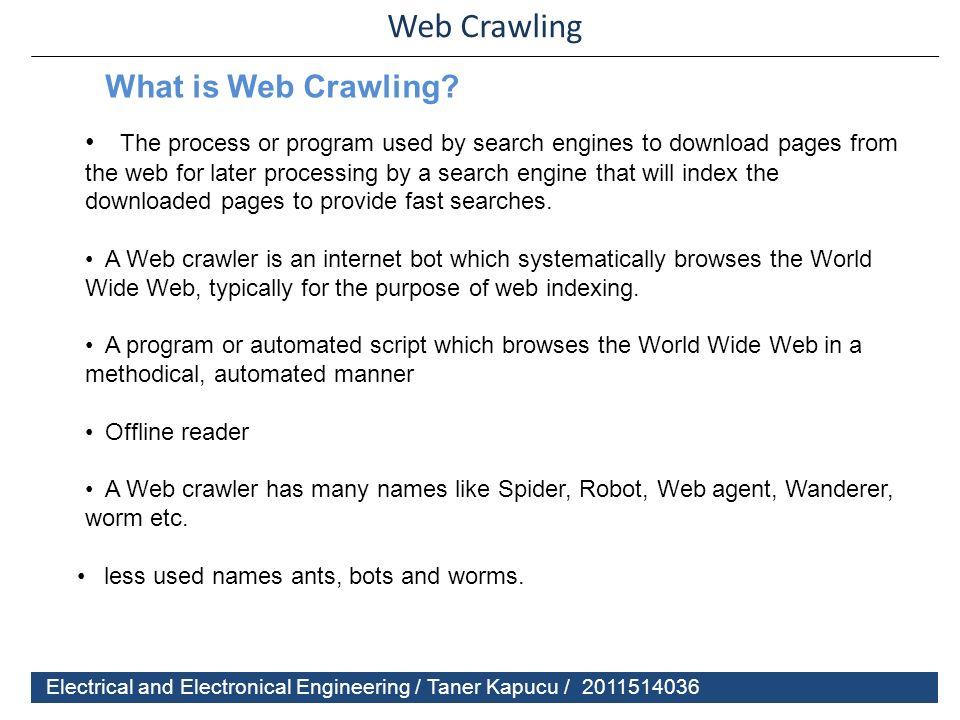 Web crawler ppt download
