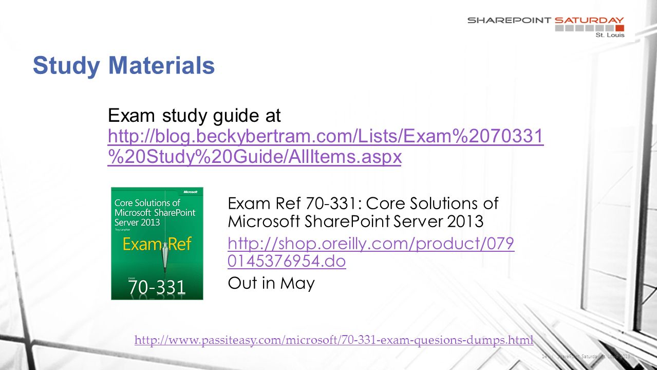 70 331 core solutions of microsoft sharepoint server ppt download 14 sharepoint saturday st 1betcityfo Choice Image