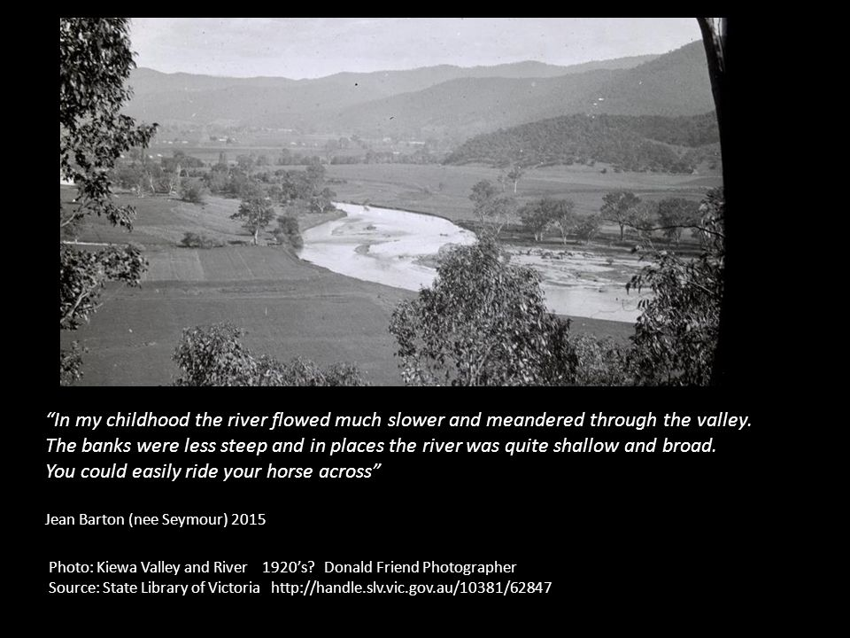 Photo: Kiewa Valley and River 1920's.