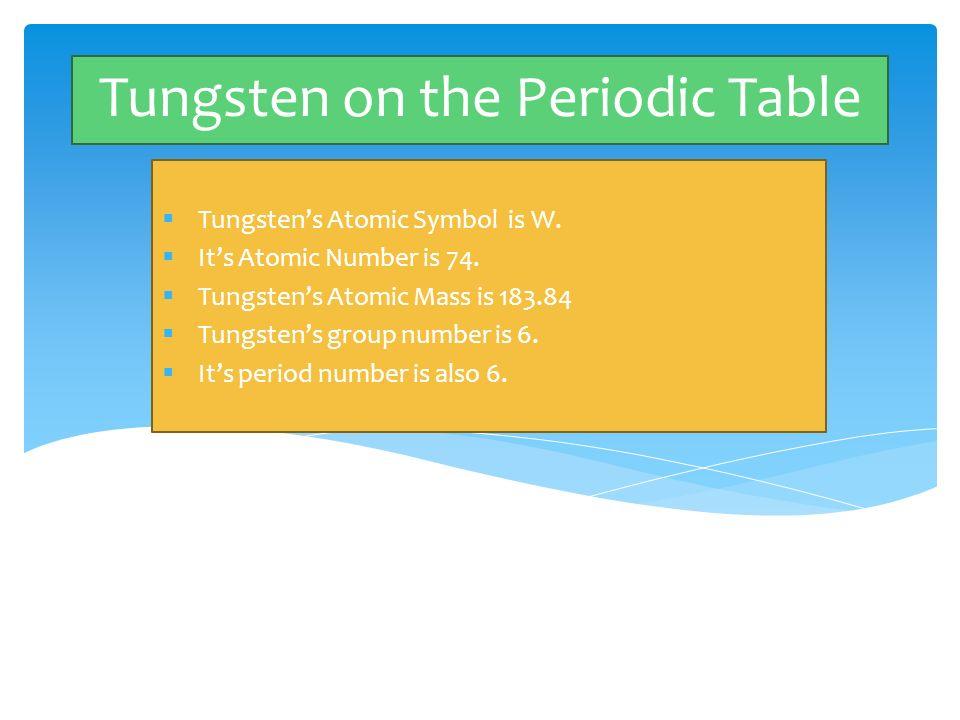 Periodic table periodic table tungsten carbide periodic table of periodic table periodic table tungsten carbide tungsten by brittanee mccloe period 7 by brittanee mccloe urtaz Choice Image