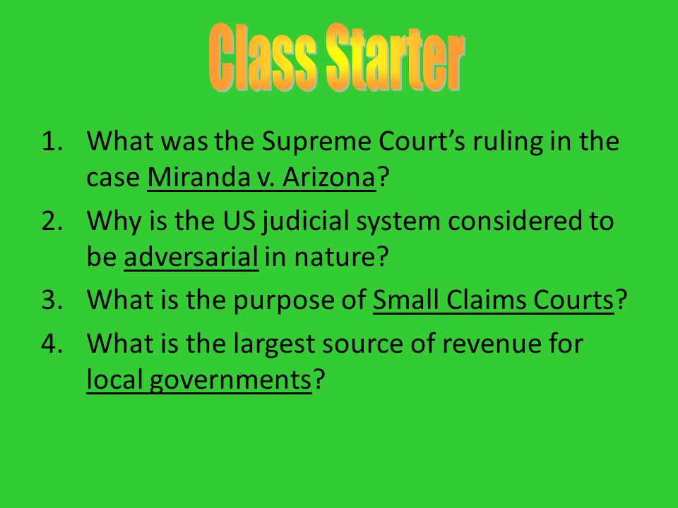 supreme court ruling on the miranda case made us headlines In recent terms, the supreme court has taken a number of cases to clarify what constitutes unlawful retaliation within the meaning of title vii of the civil rights act 54 for the next term, the supreme court has agreed to hear another retaliation case to address who may claim retaliation within the meaning of the statute.