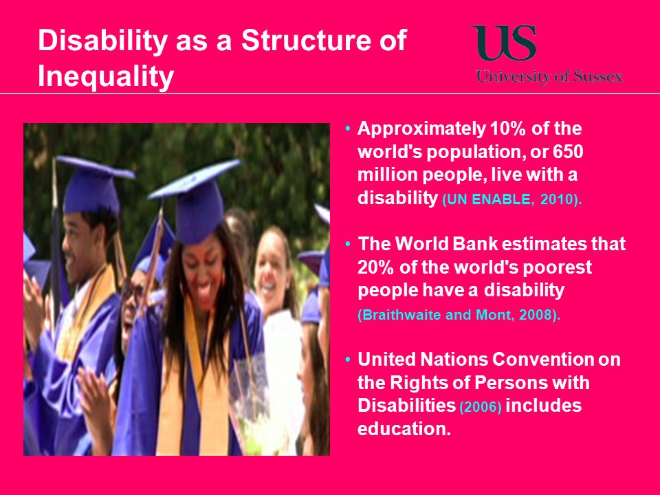 disability and the justification of inequality In his article, disability and the justification of inequality in american history, popular arguments against civil rights movements in the 19th and 20 centuries in other words, dominant groups justified their own superiority and access to political representation through arguing that other groups could.