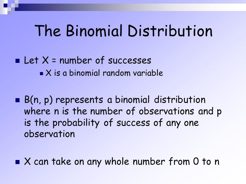 random variable and binomial setting