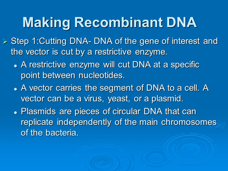 Biotechnology  Biotechnology involves human manipulation of the genetic code.