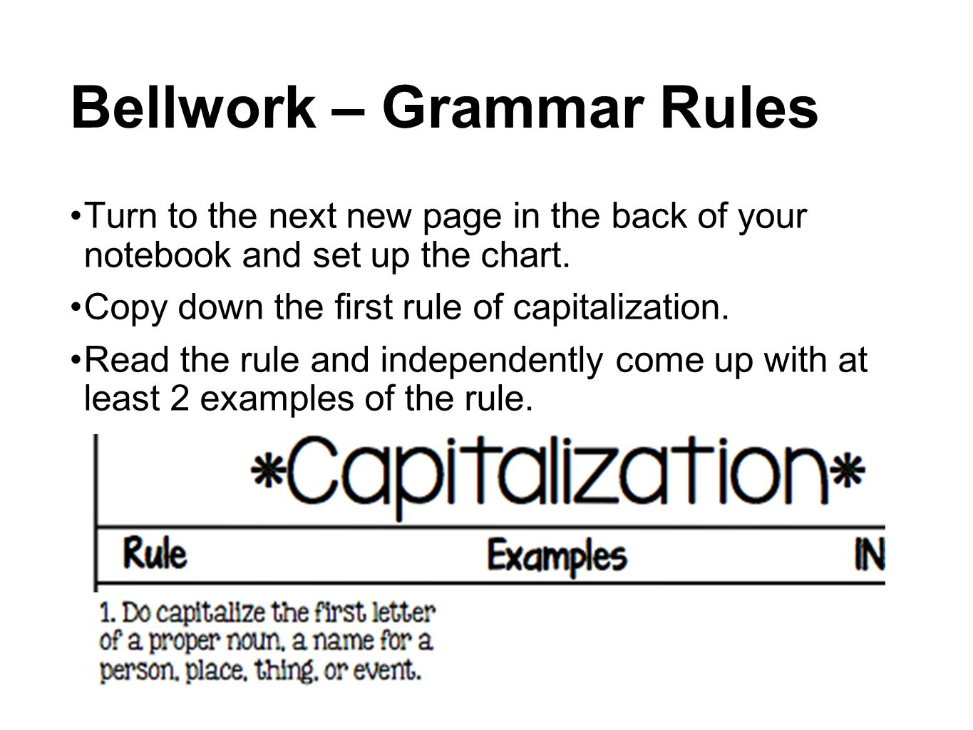 Copy Of Capitalizing Rules - Lessons - Tes Teach