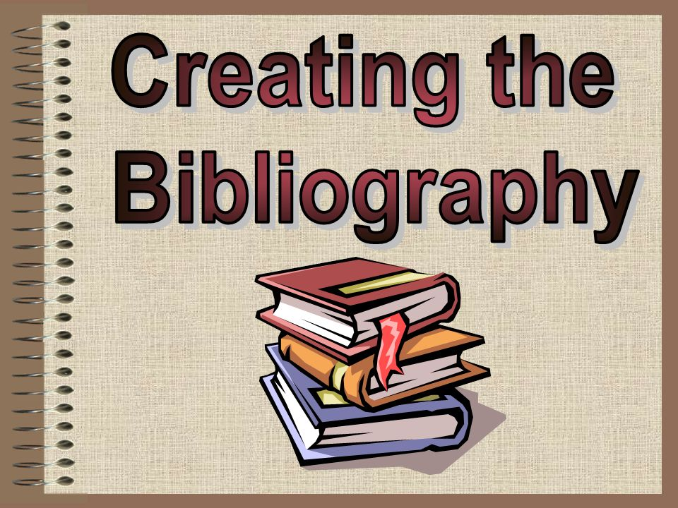 How to write bibliography for books
