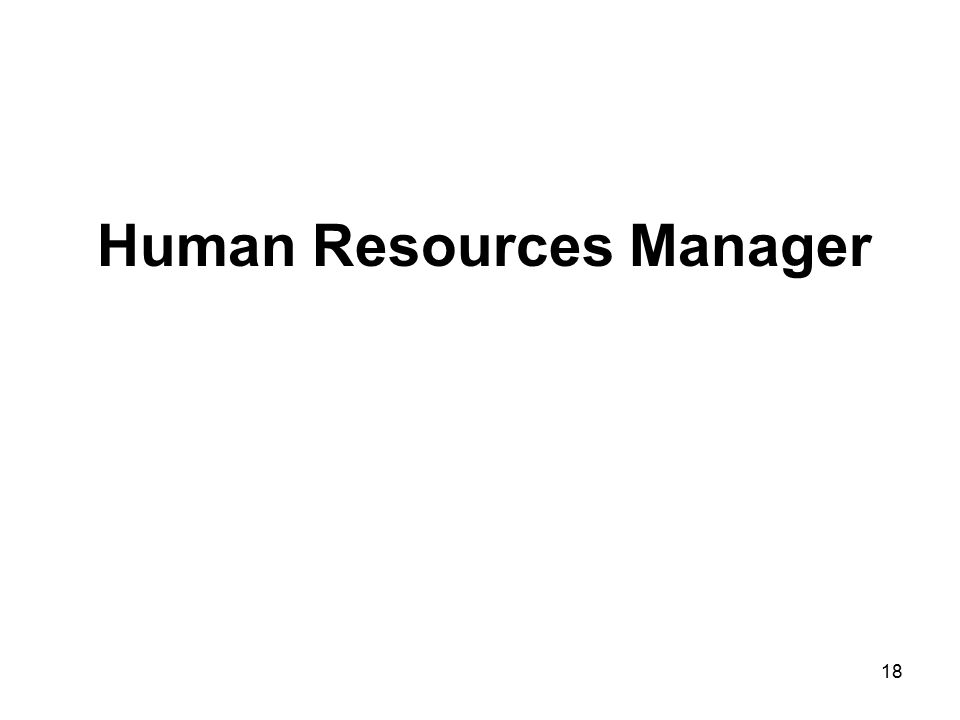 Human Resources Manager 18