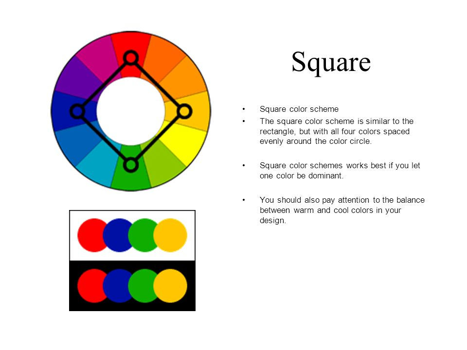 Square Color Scheme The Is Similar To Rectangle But With