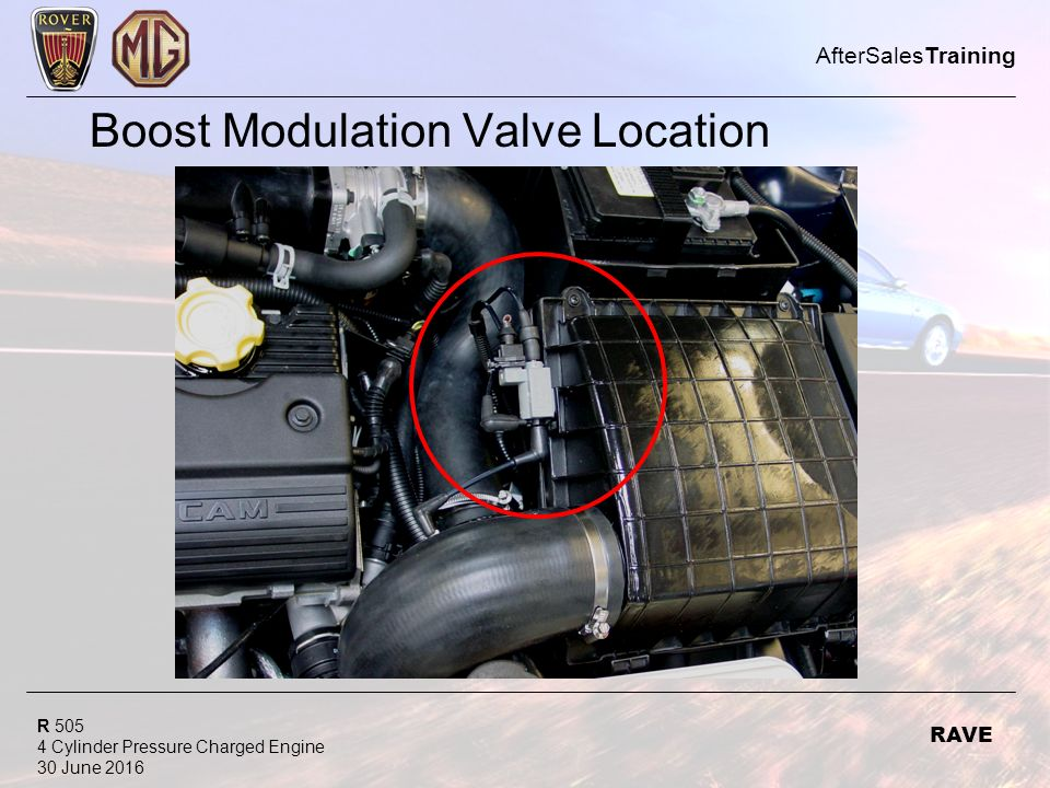 R Cylinder Pressure Charged Engine 30 June 2016 AfterSalesTraining RAVE Boost Modulation Valve Location