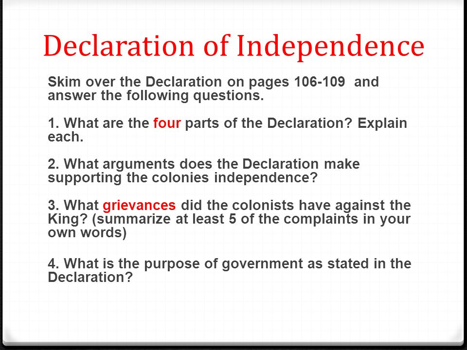 declaration of independence grieviences