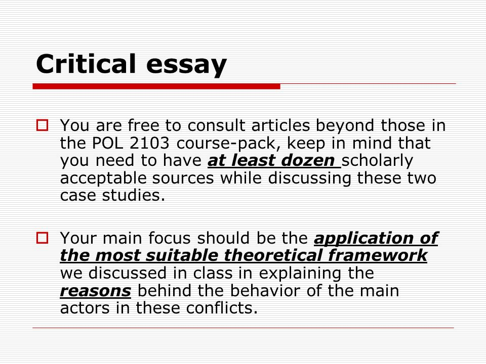 critical essay thesis help
