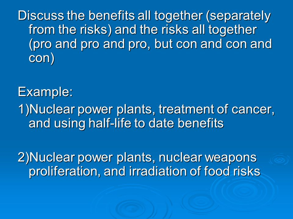 nuclear technology pros and cons essay