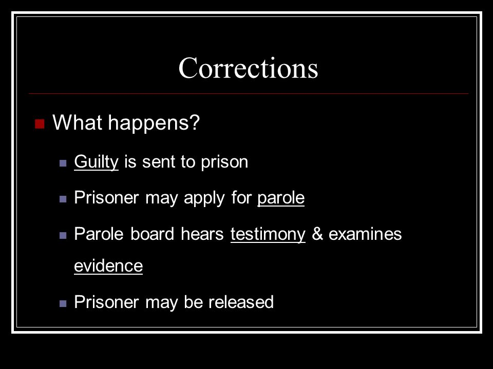 Corrections What happens.