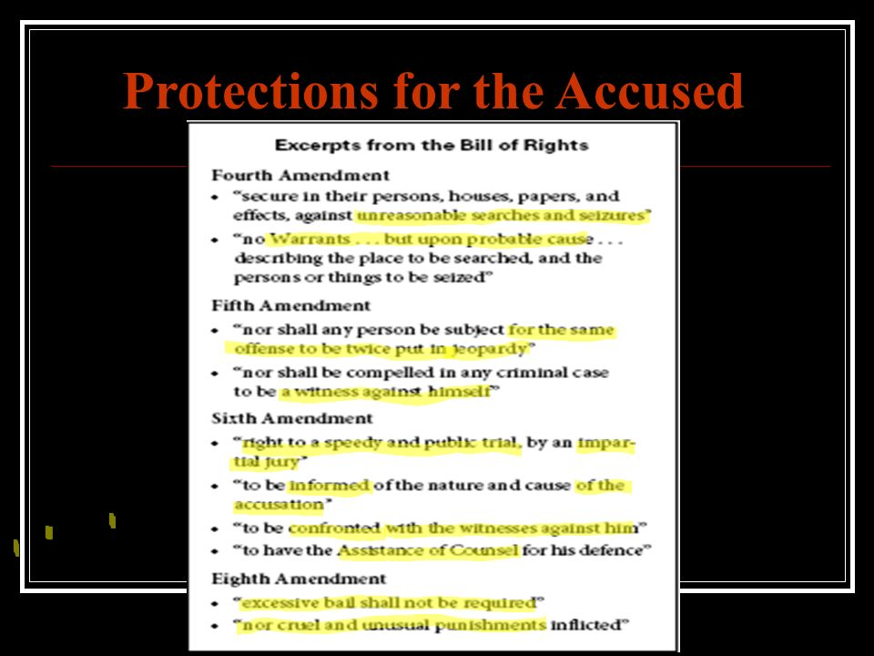 Protections for the Accused
