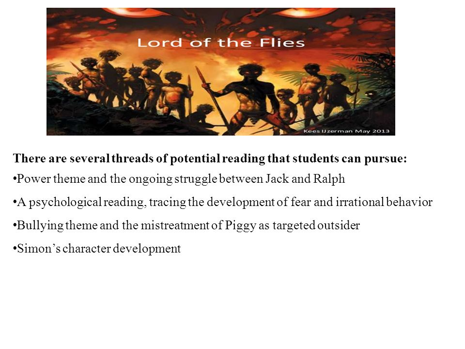 lord of the flies provides a plethora of themes to discuss and 2 there
