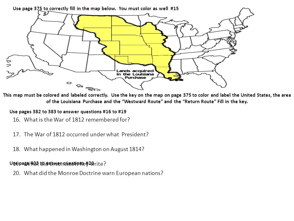 Use Page 375 To Correctly Fill In The Map Below