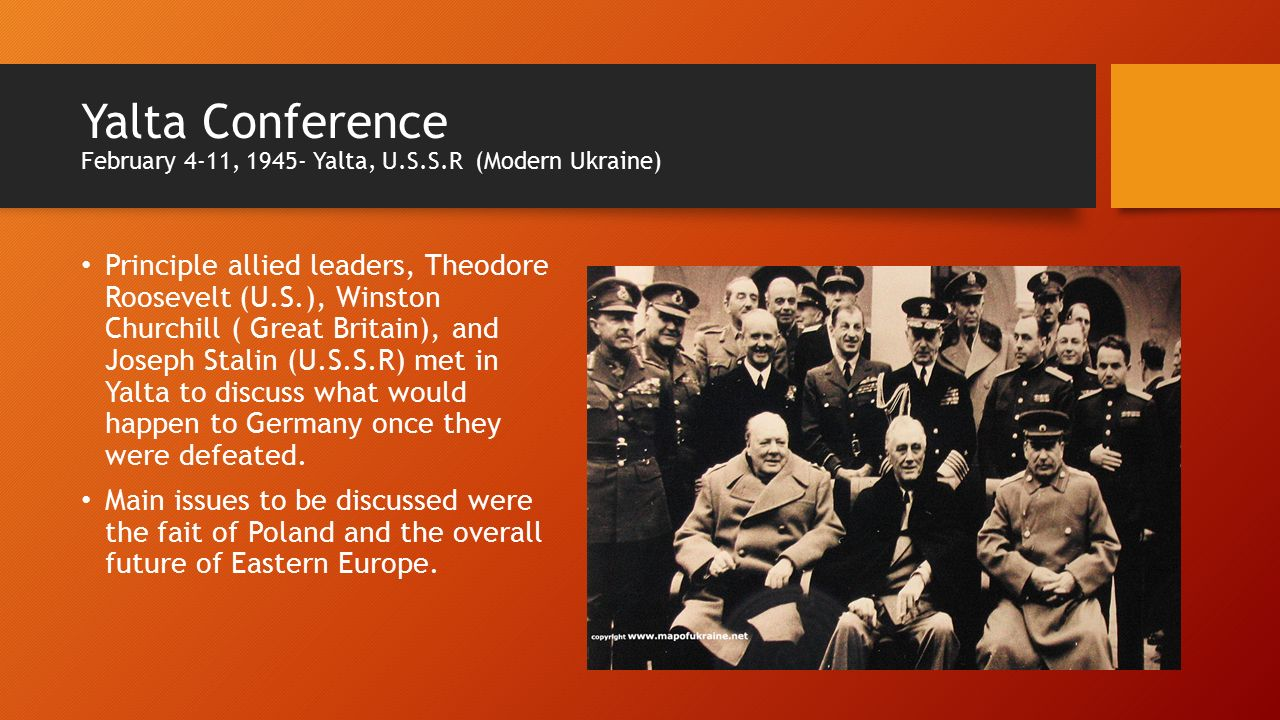 yalta and the potsdam conferences Potsdam conference  this is actually wrong this is what was agreed at the yalta conference 3 months prior to potsdam, sadly idk the answer i am also looking for it.