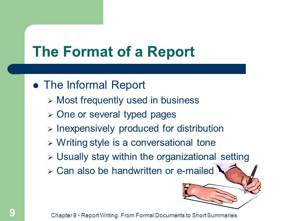 reports writing format From the day you walk into university until the day you leave, there are many reports you'll have to write as a student, these reports might be the bane of your life - but the truth is, you'll have to write them no matter where you go from a simple work assessment report to the high-flying.