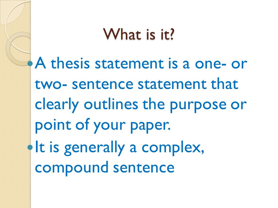 What is a thesis ?