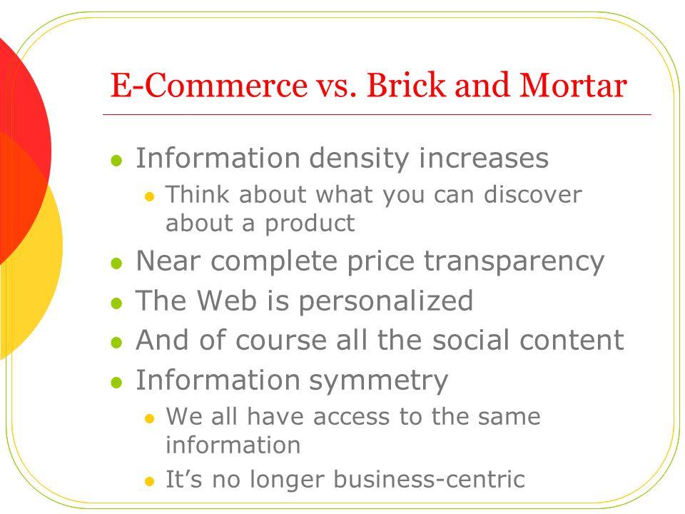 E-Commerce vs.