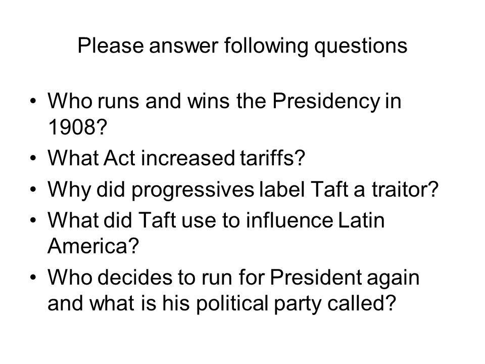 Question on tariffs? PLEASE ANSWER?