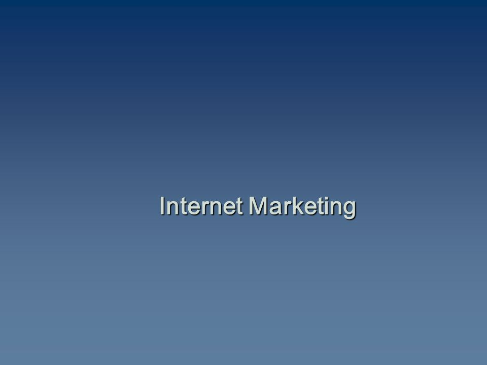 The Role of the Internet in Marketing
