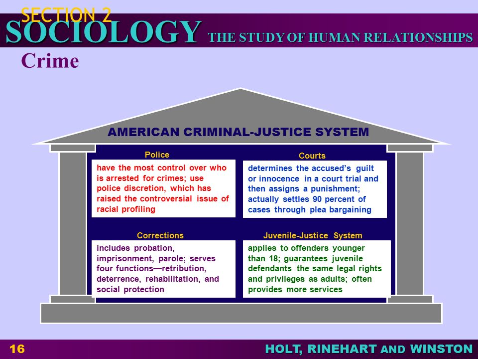 THE STUDY OF HUMAN RELATIONSHIPS SOCIOLOGY HOLT, RINEHART AND WINSTON 17 Chapter Wrap-Up 1.What are the functions of deviance.