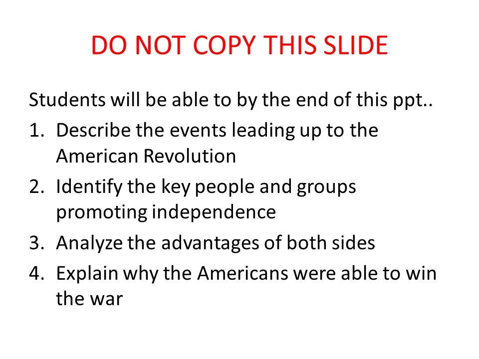 Essay American Revolution