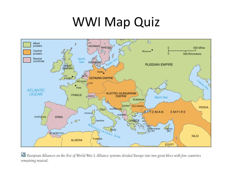 World war i aka the great war long and short term causes ppt 59 wwi map quiz gumiabroncs Image collections