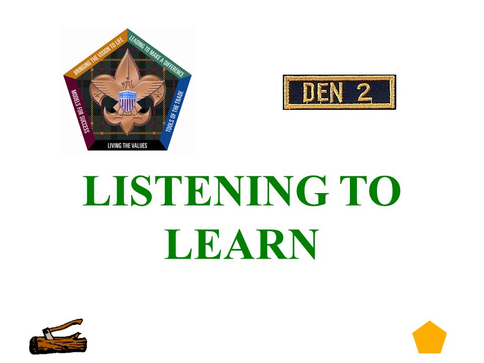 1 Listening To Learn