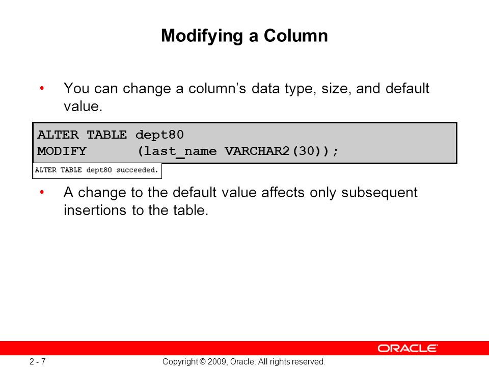 Interesting Alter Table Set Default Value Oracle Gallery - Best ...