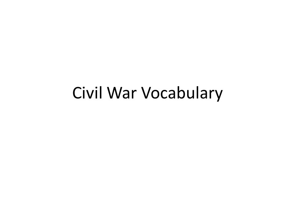 Civil War Vocabulary | Civil wars, Worksheets and School