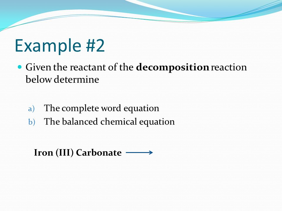 h202 decomposition Hydrogen peroxide h2o2 can be an immediate, convenient source of oxygen the general reaction of the hydrogen peroxide decomposition results in the formation of water molecule and oxygen gas: 2 h2o2 → 2 h2o + o2 in practice however, this reaction does not occur easily and needs a catalyst.