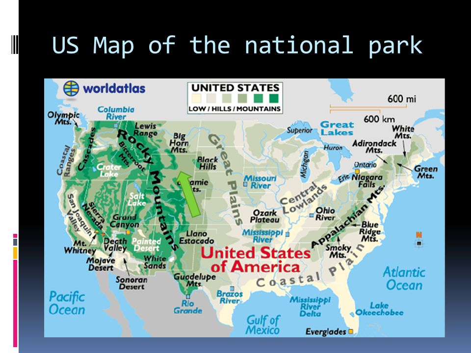 Hihi US Map Of The National Park A Topographic Map Of Rocky - Map of us rocky mountains