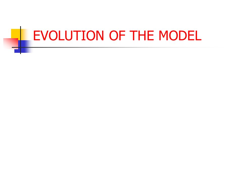 EVOLUTION OF THE MODEL