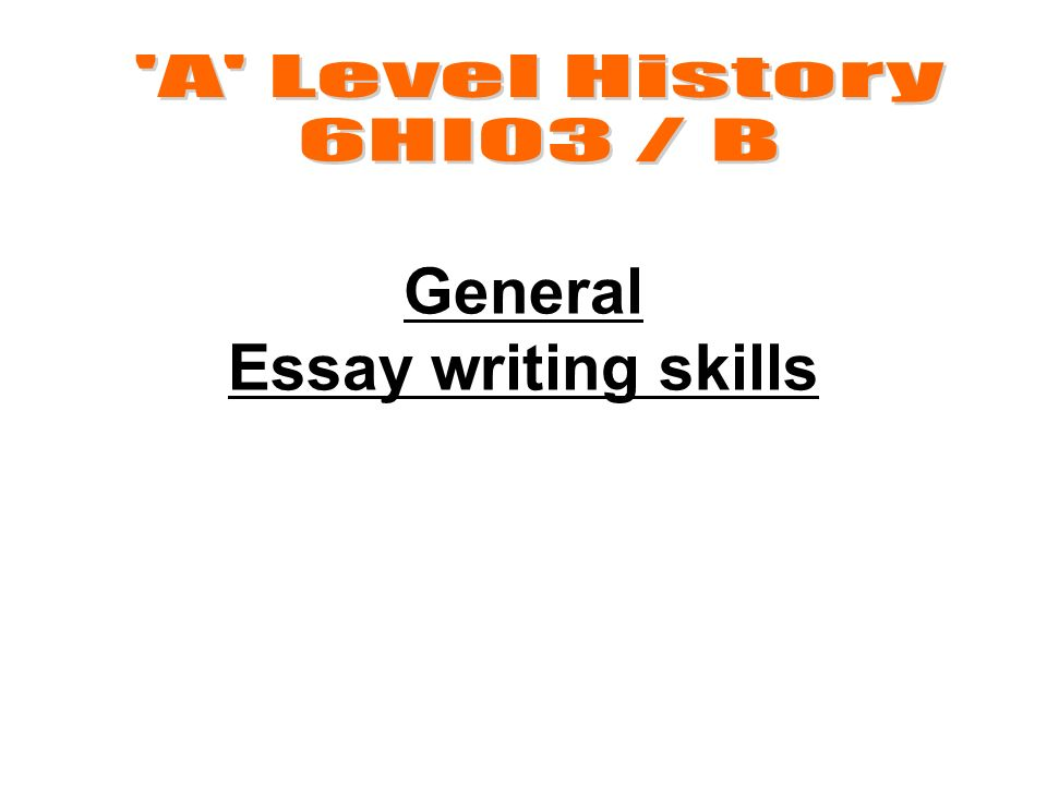 a level history essay writing