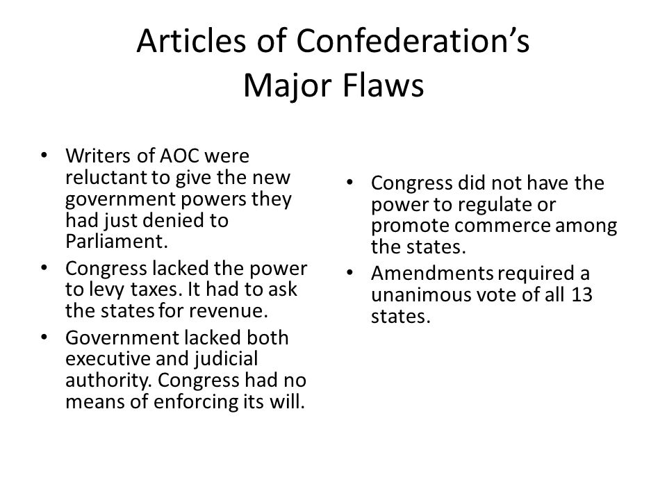 flaws in the articles of confederation A summary of article 5 in the founding fathers's the articles of confederation (1781-1789) learn exactly what happened in this chapter, scene, or section of the.