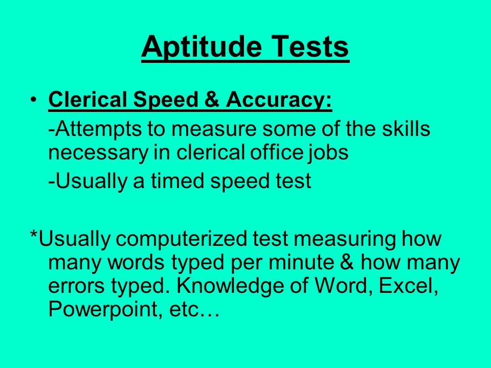 word speed test