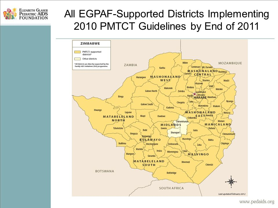 All EGPAF-Supported Districts Implementing 2010 PMTCT Guidelines by End of 2011