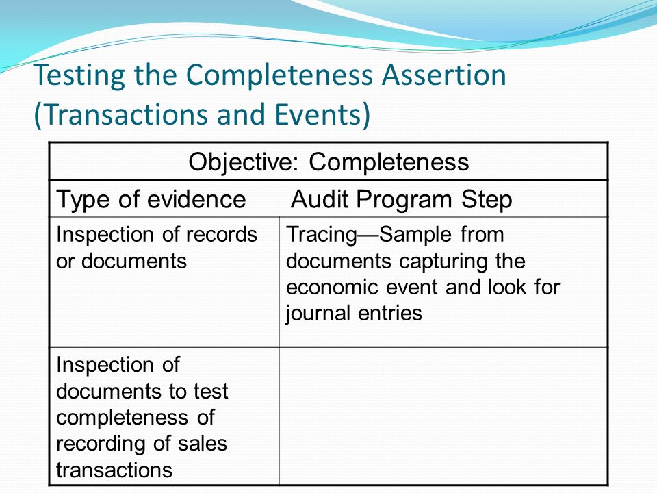 Auditor'S Process In Considering Tests Of Controls And Substantive