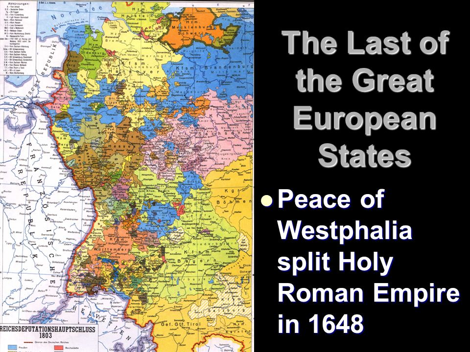 Blood And Iron The Rise Of Germany The Last Of The Great European - Europe map 1648 westphalia