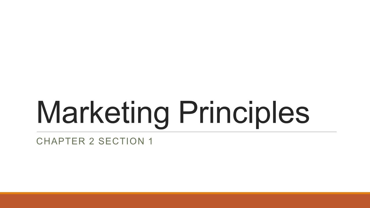 marketing principles chapter section swot analysis an 1 marketing principles chapter 2 section 1
