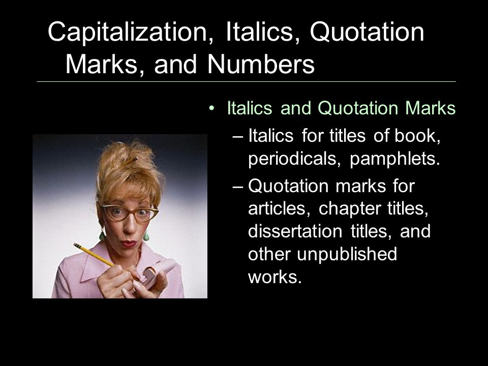 essays italics Punctuation, continued italics and underlining italics and underlining generally serve similar purposes however, the context for their use is different.