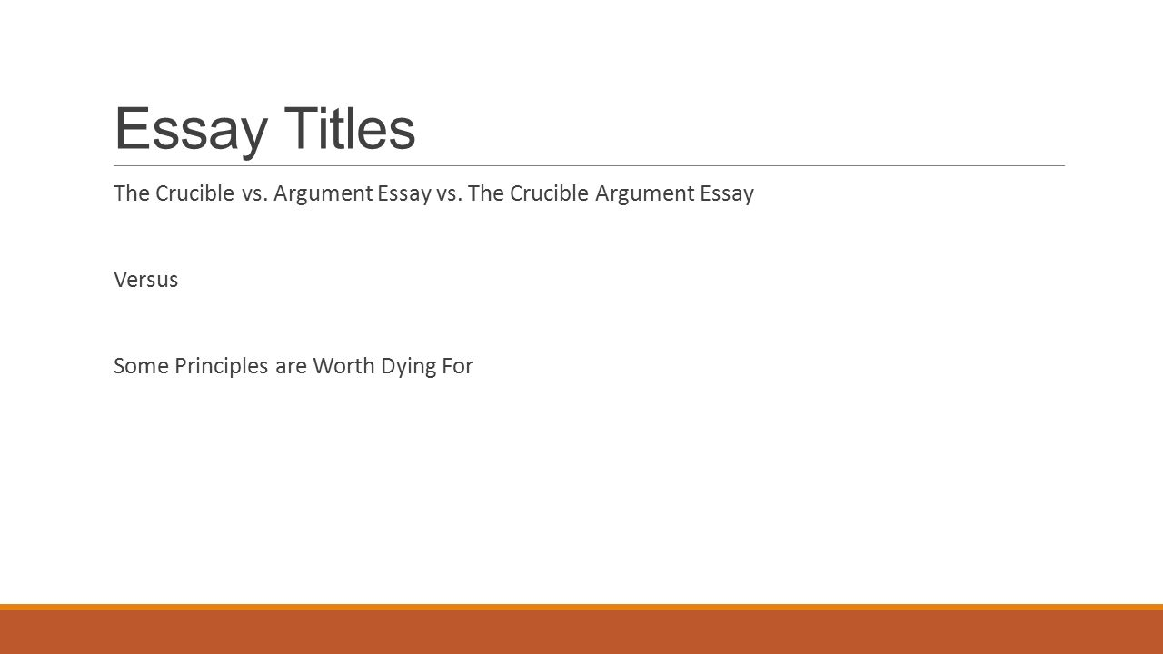 essay paper on the crucible