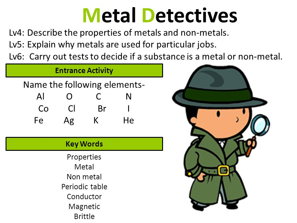 Metal detectives lv4 describe the properties of metals and non 1 metal detectives urtaz Image collections