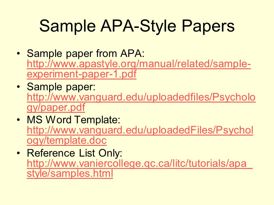 Apa Sample Essay