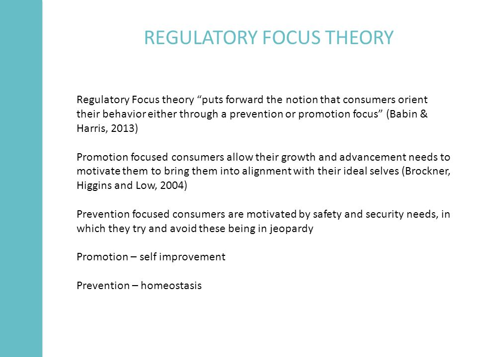 regulatory focus theory and speech topics Regulatory focus theory may explain the privacy paradox of social media engagement and privacy protection behaviors (.