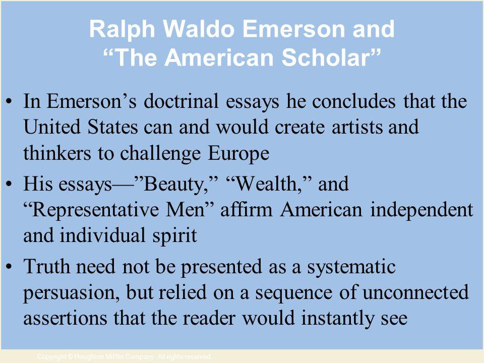 chuch doctrine ralph waldo emerson essay